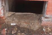 Ремонт оконного проема подвального помещения