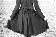 Платье из шелка, из натурального атласа,  из натурального Шанель