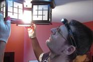 Установка потолочного светильника на бетонный потолок.