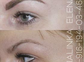 Перманентный макияж. Напыление бровей