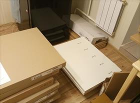 Сборка и монтаж угловой кухни IKEA со сложным углом (20.12.2018). Установка сушилки для белья Zalger 120. (17.04.2019)