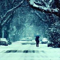 Фотосессия пары зимой