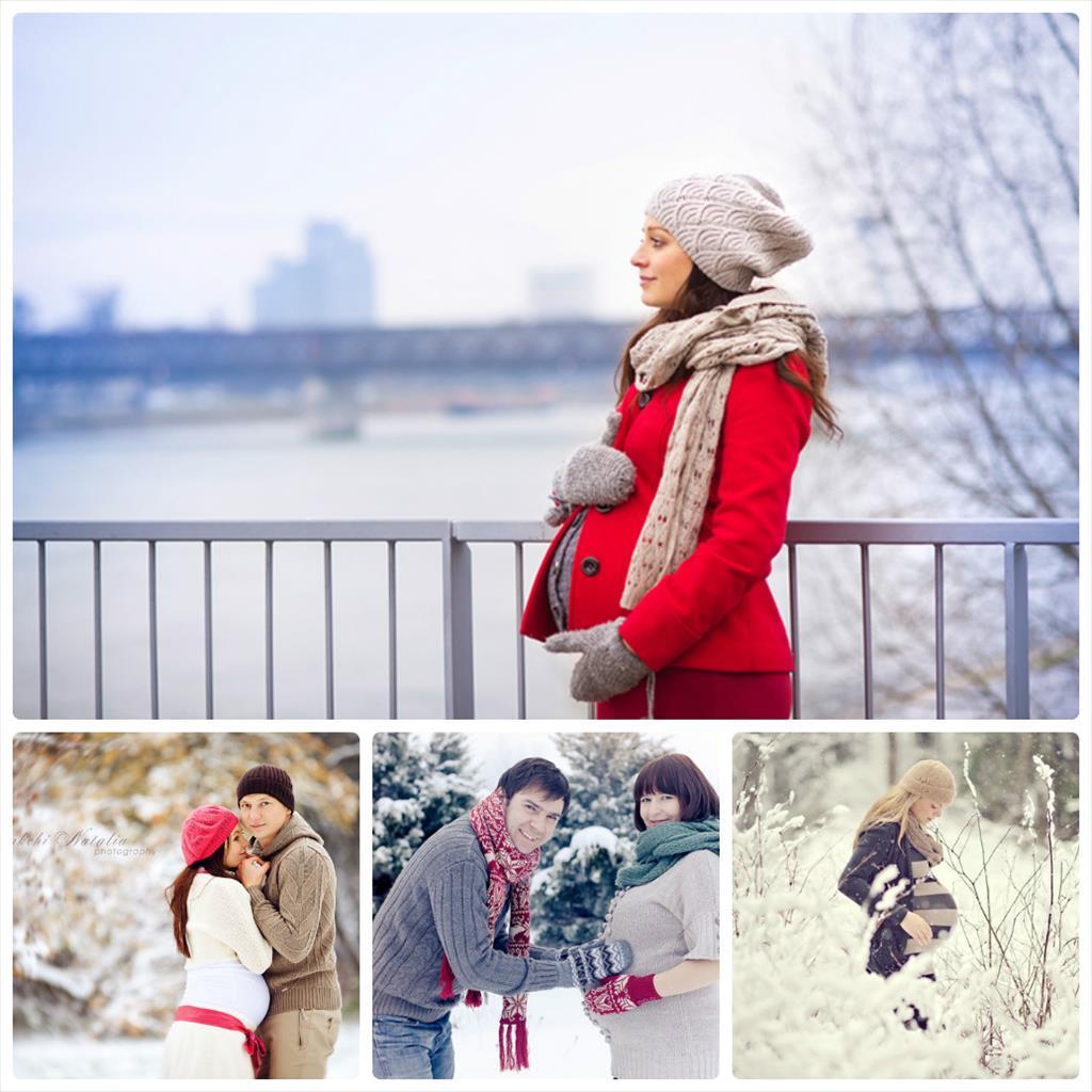 позы для фотосессии в парке зимой