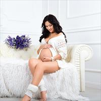 Фотосессия беременной дома