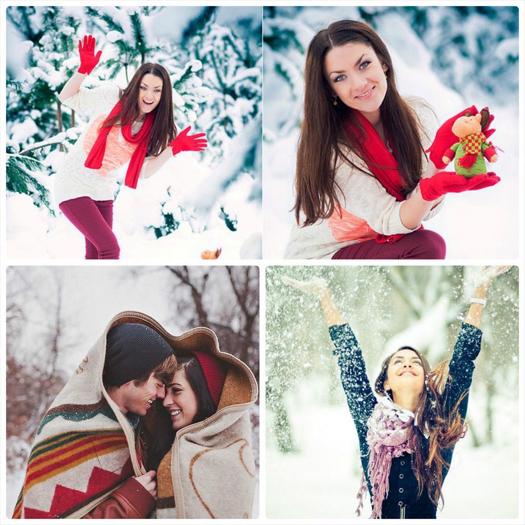 идеи для фотосессии зимой в платье