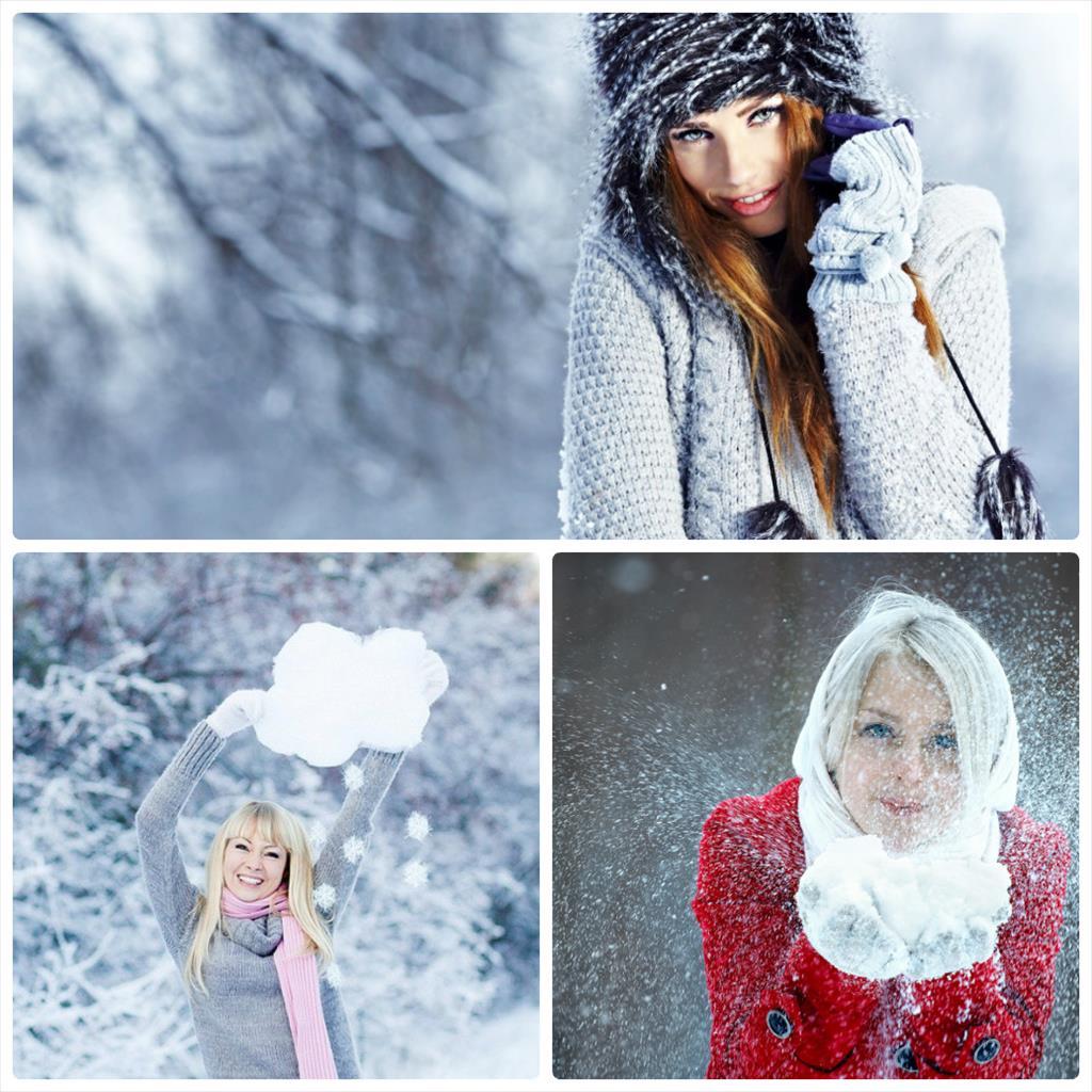 позы для зимней фотосессии на улице